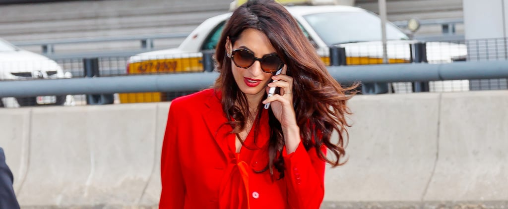 Amal Clooney's Suit Isn't Just Stylish as Usual — It's Festive For Fall
