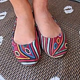 The perfect fest flats, these multi-colored Teysha shoes were actually on sale at one of Lollapalooza's many cool pop-up shops.