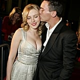 Scarlett shared a sweet moment with Jonathan Rhys Meyers at the premiere of Match Point in 2005.