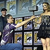 Pictured: Kevin Feige, Taika Waititi, and Natalie Portman at San Diego Comic-Con.