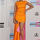 Jennifer Hudson in Orange Dior Dress