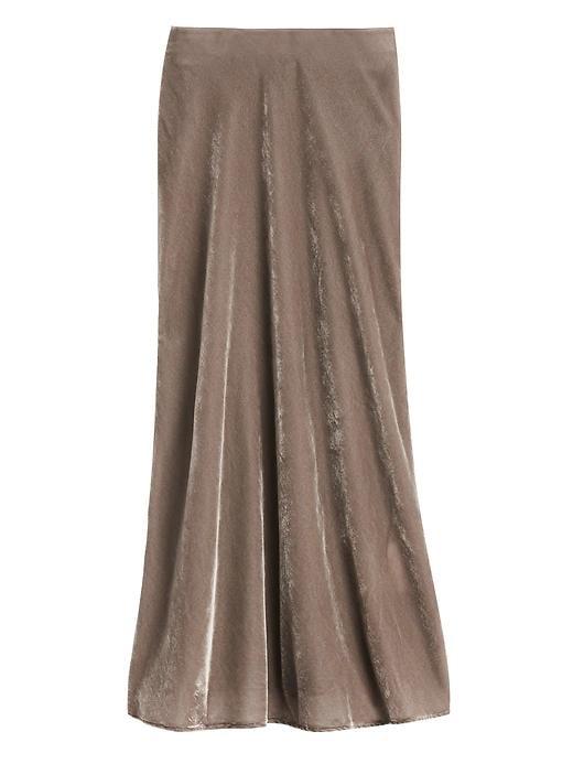 Velvet MIdi Slip Skirt