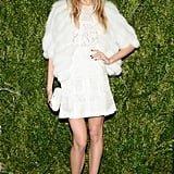 Constance Jablonski in J. Mendel at the CFDA/Vogue Fashion Fund Awards.
