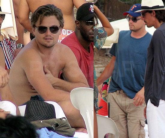 Photos of Shirtless Leonardo DiCaprio Vacationing on Beach in Ibiza