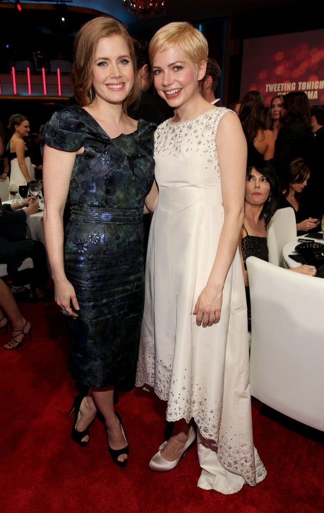 Michelle Williams and Amy Adams posed in 2011.