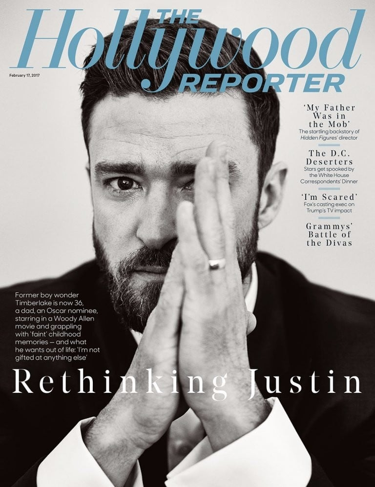 Justin Timberlake Hollywood Reporter Interview Feb. 2017