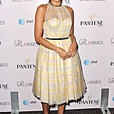 Eva Mendes mastered retro-inspired style in a fit and flare Honor frock.