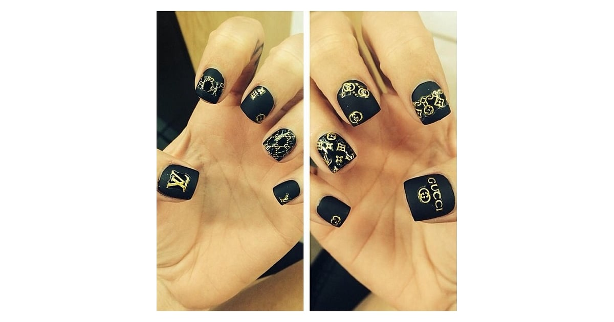 Gucci and Louis Vuitton   12 Luxury Fashion Designer-Inspired Nail ...
