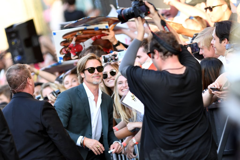 Brad Pitt at the Once Upon a Time in Hollywood LA premiere.