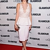 Selena Gomez wore a white dress for the event.