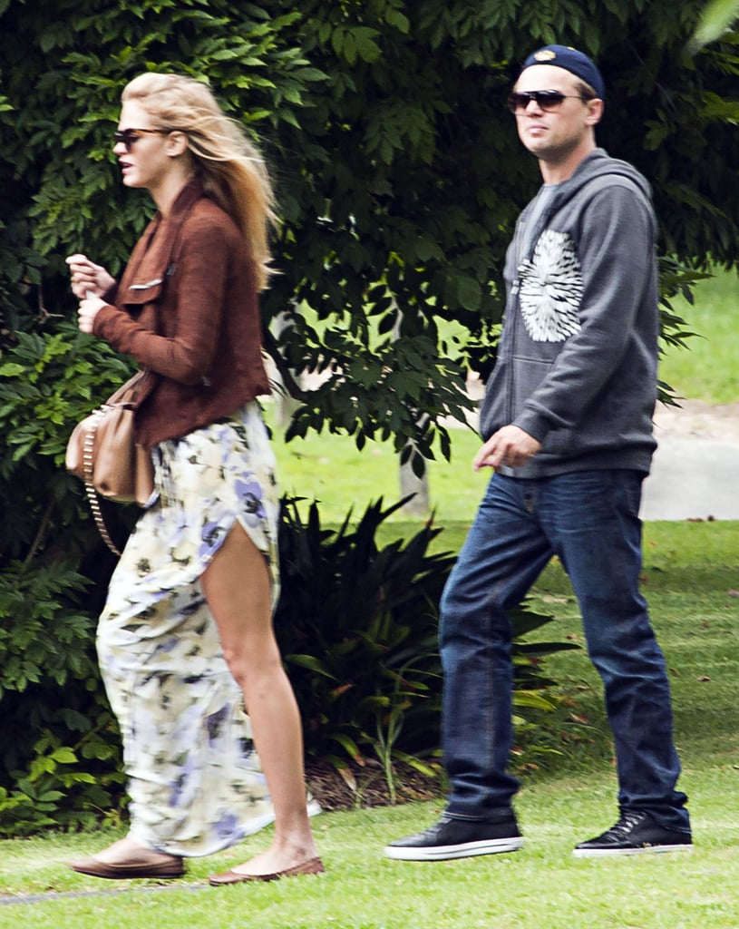 It seems like Leonardo DiCaprio is dating Erin Heatherton, a Victoria's Secret Angel. The duo were spotted touring the grounds of Sydney's historic Vaucluse House yesterday. Leo's been linked to a string of beautiful ladies since his breakup with Bar Refaeli, and his Summer fling with Blake Lively earned a spot on our list of top celebrity headlines of 2011. He's been spotted on and off the set in Australia since filming began on The Great Gatsby back in August. We got a glimpse of Leo and his costars Carey Mulligan and Tobey Maguire in character when the first official stills from The Great Gatsby were released earlier this week. We'll have to wait an entire year to see Leo, Carey, and the rest of the cast act out F. Scott Fitzgerald's classic tale. We will, though, see Leo in his finest black tie attire when award season starts. Leo was nominated for a Golden Globe this morning for his role in J. Edgar, and yesterday he picked up a SAG nod as well.