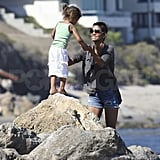 Halle Berry Enjoys a Malibu Weekend With Nahla and Olivier