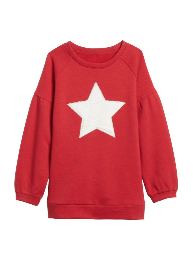 Kids Star Puff-Sleeve Sweatshirt