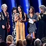 Janie Fricke, Pam Tillis, Kacey Musgraves, Martina McBride, and Kathy Mattea at the 2019 CMA Awards