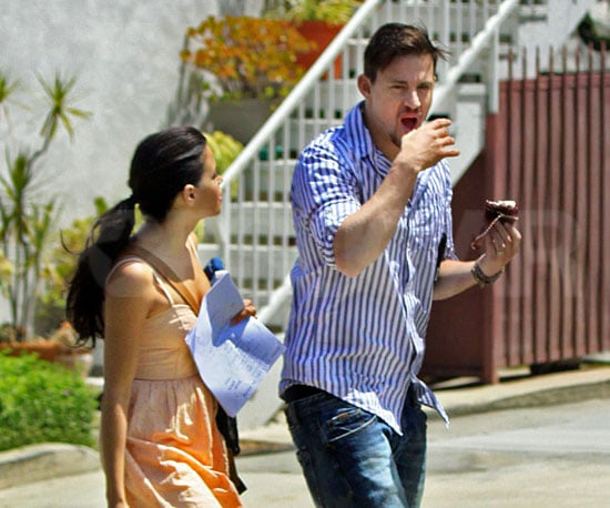 Slide Picture of Channing Tatum and Jenna Dewan in LA