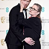 Domhnall Gleeson and Carrie Fisher, 2016