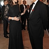 Kate Middleton Black Lace Diane von Furstenburg Dress