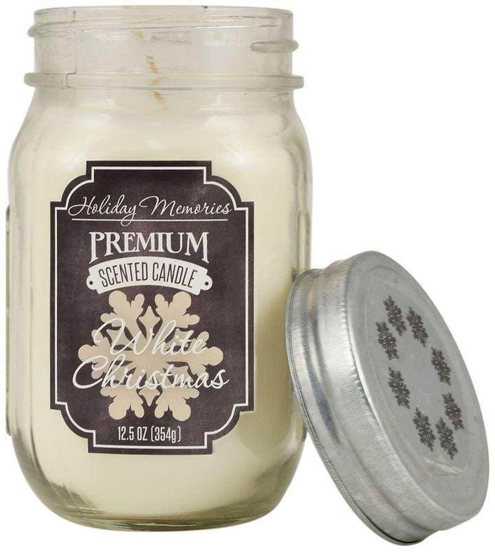 white christmas mason jar candle cold weather gifts popsugar smart living photo 3. Black Bedroom Furniture Sets. Home Design Ideas