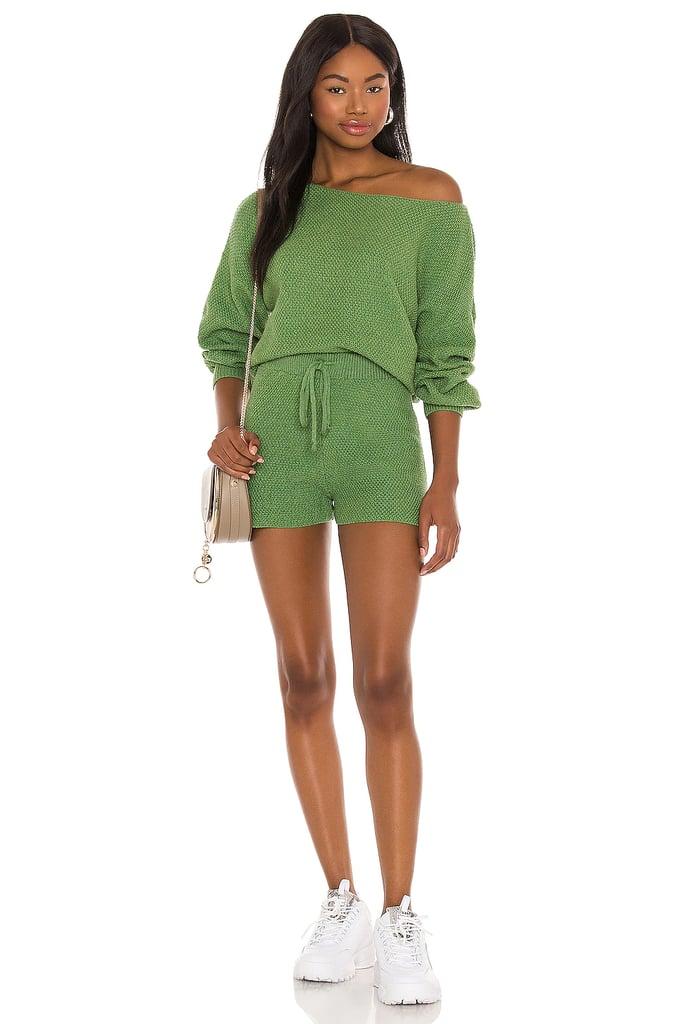 Lovers + Friends Kait Knit Shorts Set