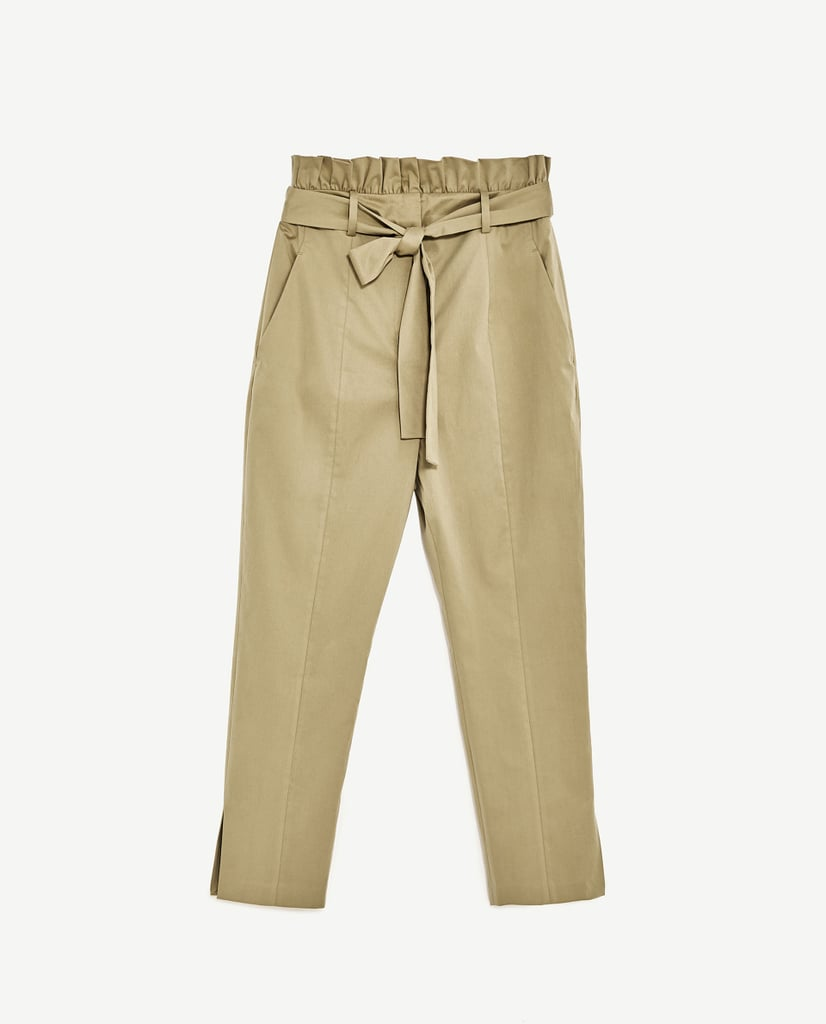 Trousers With Frilled Waistband
