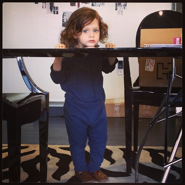 Skyler Berman looked pensive during a day at the office with mama Rachel Zoe. Source: Instagram user rachelzoe