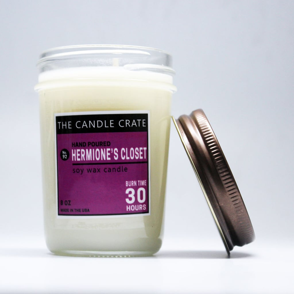 Hermione's Closet candle ($10) with orange, pineapple, peach, strawberry, jasmine, lavender, and sweet green coconut notes