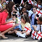 When others sit crisscross, the Duchess squats.