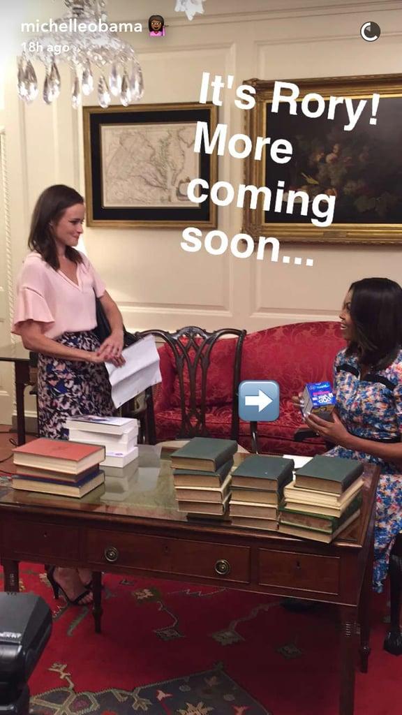 Michelle Obama's Floral Dress on Snapchat June 2016