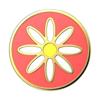Enamel Quaint Daisy Coral PopSocket