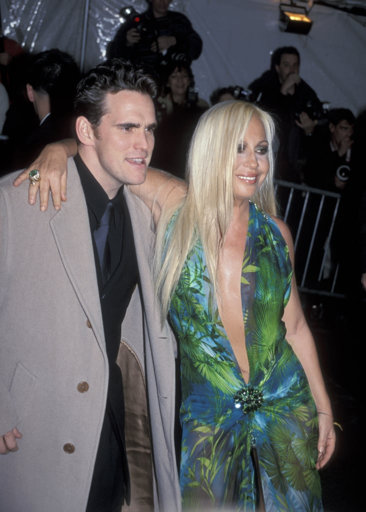 Matt Dillon And Donatella Versace 1999 Met Gala