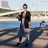 An ankle boot plus dress is simple enough, so take it next level with a pair of jeans. This layering hack as done by Gine Margrethe is what separates fashion girls from the rest of the pack.