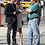 Kate Bosworth and Michael Polish headed to Ground Zero in NYC.