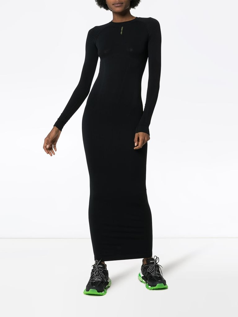 Kylie's Exact Unravel Project Fitted Maxi Dress