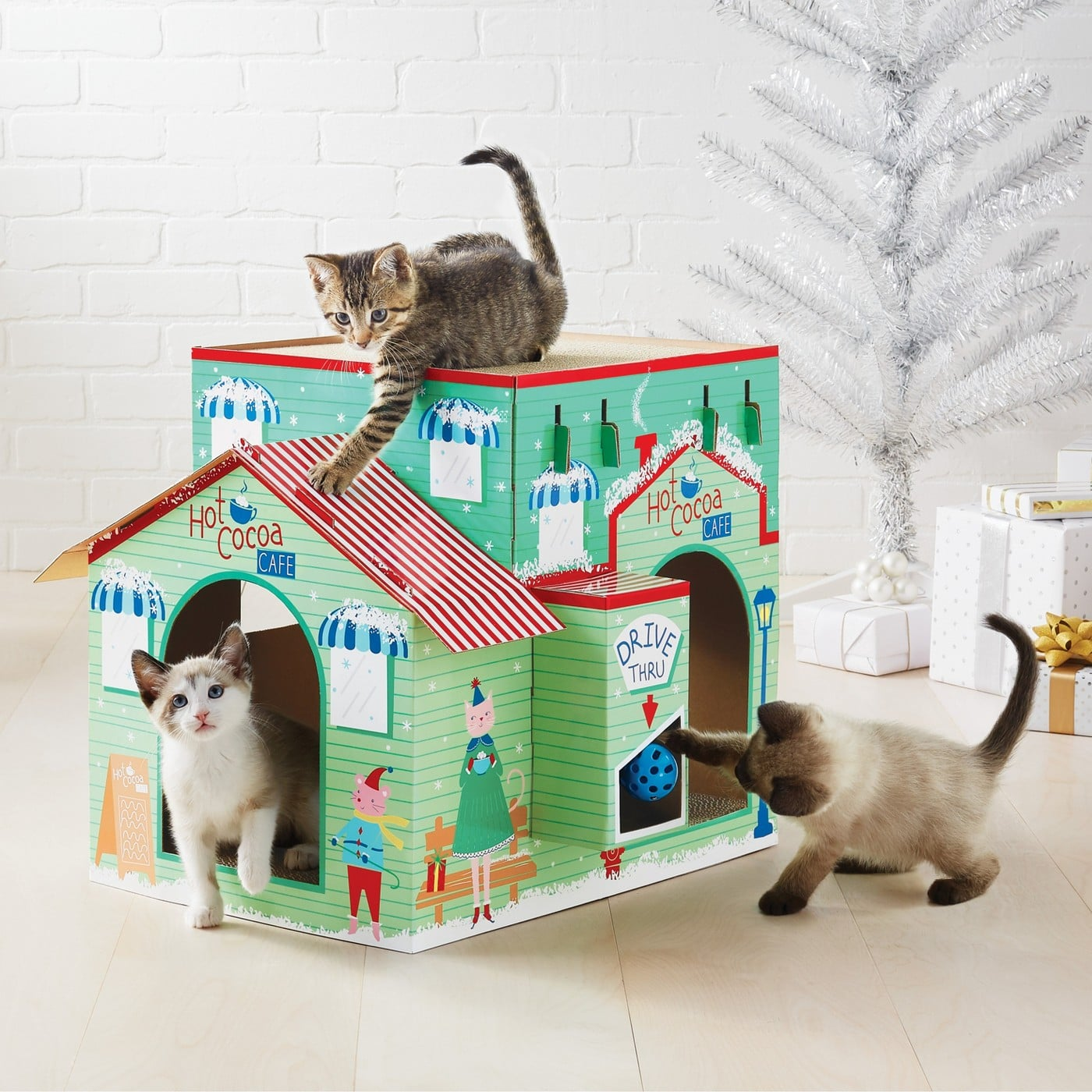 Holiday Themed Cat Houses