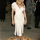 White pleats and cutouts for the Vanity Fair Oscar bash in '07.