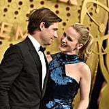 Jason Ralph and Rachel Brosnahan at the 2019 Emmys