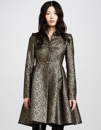 This Alice + Olivia metallic coat ($478, originally $798) is the epitome of regal. We especially adore the girlie flounce skirt.