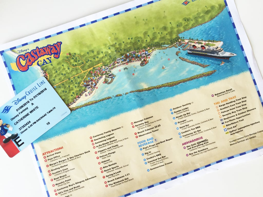 You can use your Key to the World card on Castaway Cay.