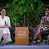 Michelle Obama spoke during an event about her Let Girls Learn organization.