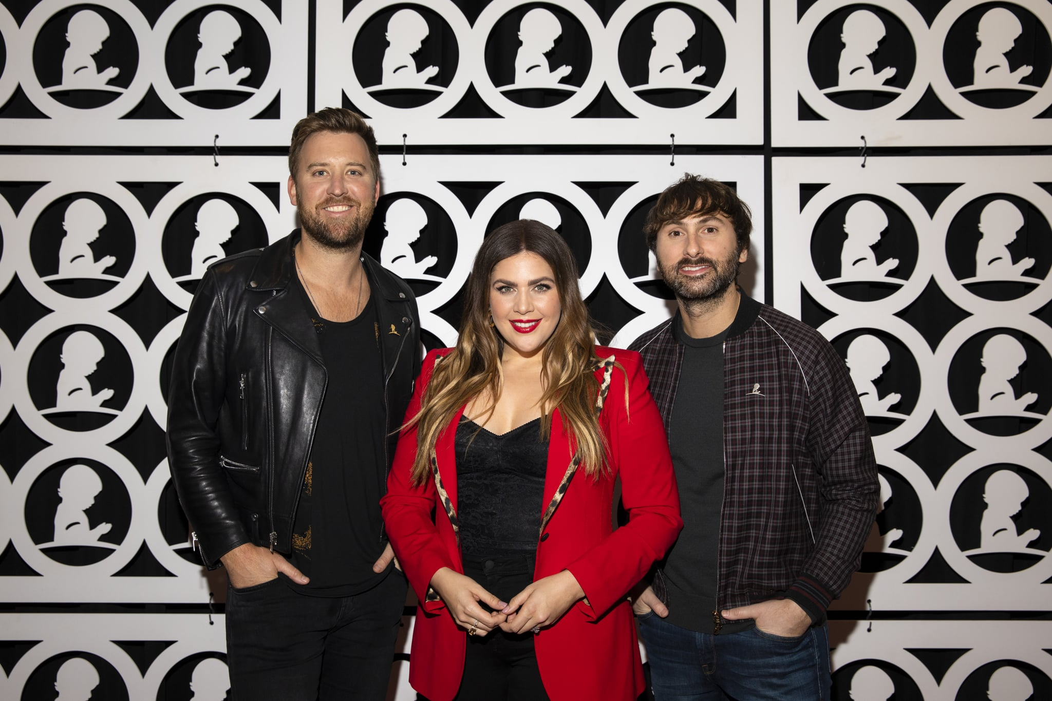 MEMPHIS, TN - JANUARY 17:  (L-R) Charles Kelley, Hillary Scott and Dave Haywood of Lady Antebellum attend the Country Cares for St. Jude Kids Seminar at The Peabody on January 17, 2020 in Memphis, Tennessee. (Photo by Brett Carlsen/Getty Images for St. Jude Children's Research Hospital)