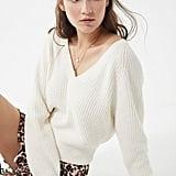 UO Cozy Chenille V-Neck Sweater