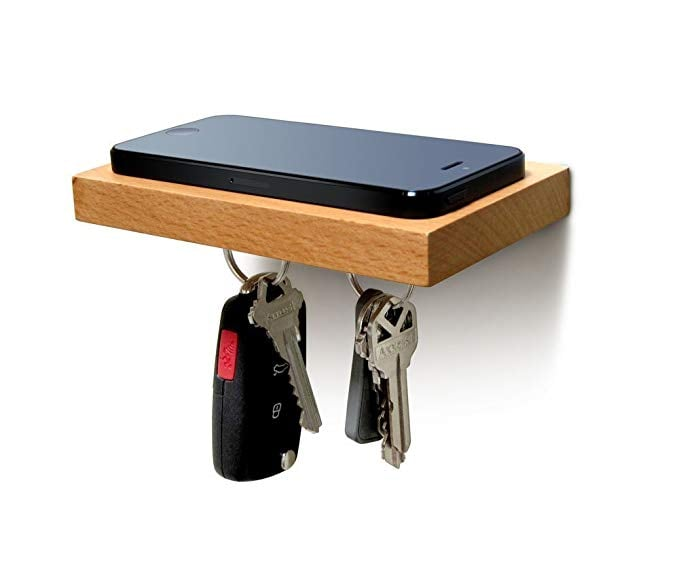 ILoveHandles Plank Floating Cell Phone Mounted Shelf