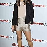 The black double-breasted Phillip Lim blazer was a smart way to top her look since it provided a contrast against all the neutrals. Plus it sharpened things up even more.  Love Mila's look as much as we do? Shop similar pieces below!