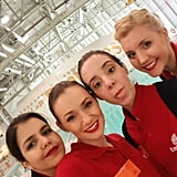 A lot of fun with this georgeous girls from #Algeria, #Brazil and #Scotland.  #emiratescabincrew #ekcabincrew #flightattendant #emiratesaviationcollege #Emirates #Dubai #angelsairways #myemiratesairline