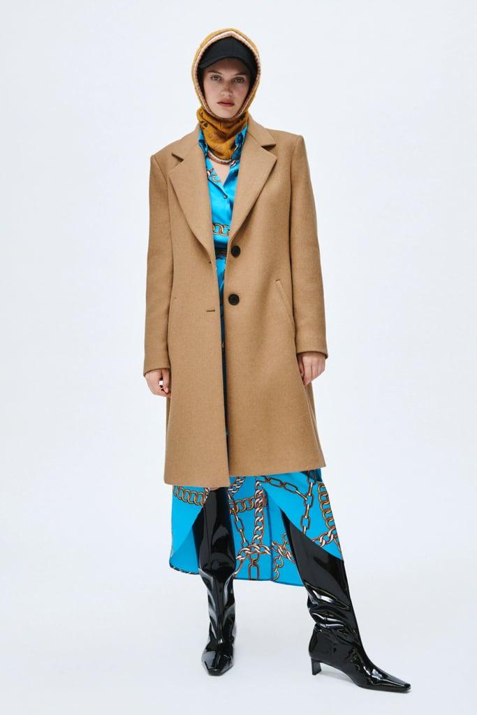 A Structured Coat: Zara Menswear Style Wool Coat