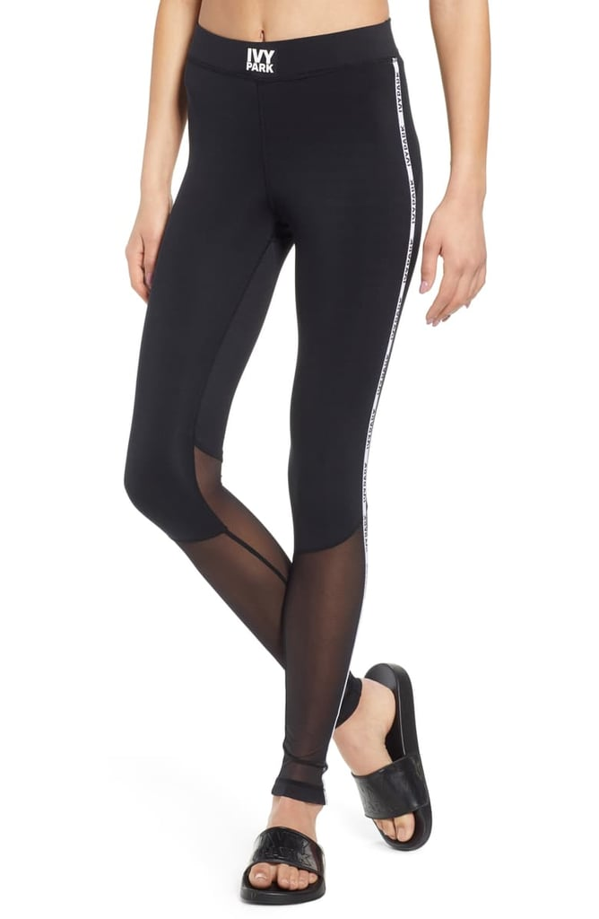 Ivy Park Mesh Panel Side Stripe Leggings