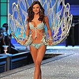 Miranda modeled the $2.5 million bra during the 2011 Victoria's Secret runway show.