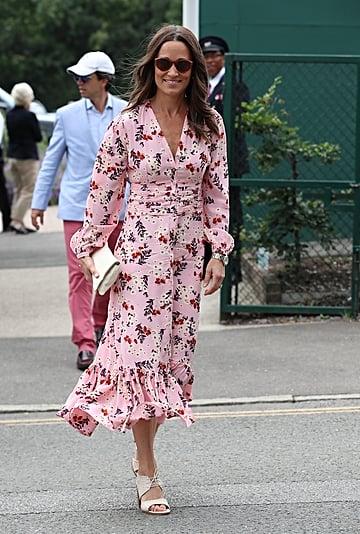 Pippa Middleton's Pink Floral Dress at Wimbledon 2019