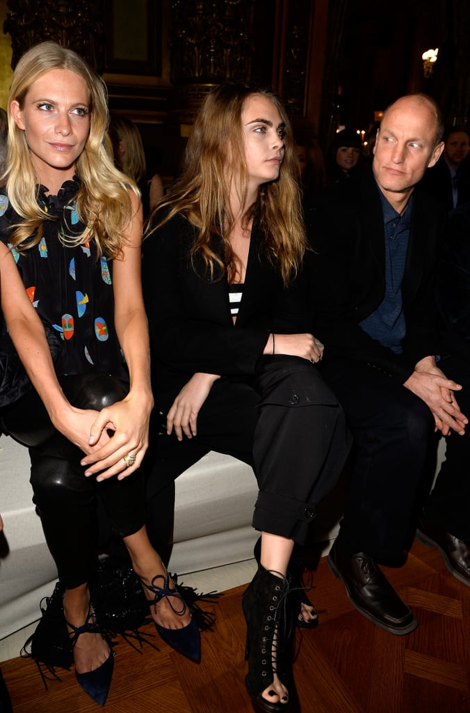 Poppy Delevingne, Cara Delevingne, and Woody Harrelson