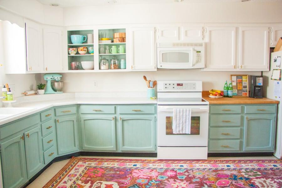 Diy Kitchen Makeover affordable diy home kitchen makeover | popsugar home